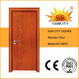 China Best Sell Veneer Solid Wooden Door (SC-W057) pictures & photos