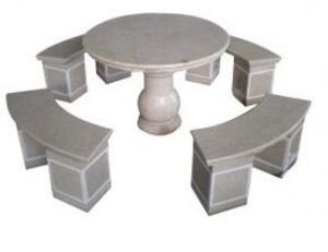 Garden Sculpture, Granite Table, Benches for Garden Decoration pictures & photos