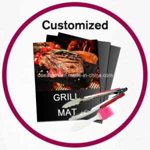 BBQ Grilling Mat Brush Tongs Set pictures & photos