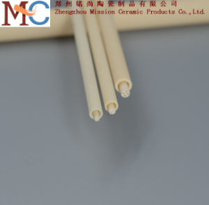 2 Holes Customized Al2O3 Ceramic Bushing Alumina Ceramic Tube pictures & photos