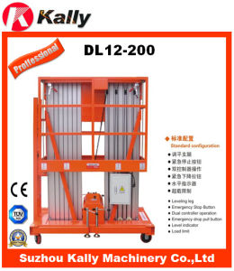 Hydraulic Double Mast Aluminum Alloy Elevators Personal Lift (DL12-200) pictures & photos