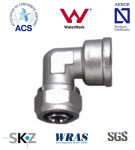 Compression Brass Fitting with Water Mark/Acs/Aenor pictures & photos