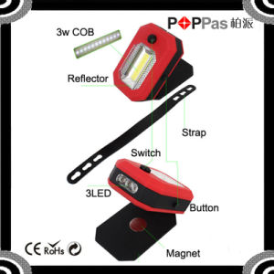 360 Degree Rotation COB and 3 LED Magnetic Work Light pictures & photos
