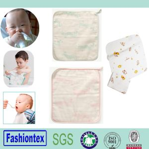 Baby Towel Organic Cotton Muslin Baby Handkerchief pictures & photos
