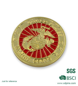 3D Logo Gold Plated Soft Enamel Souvenir Coin for Promotion Gift pictures & photos