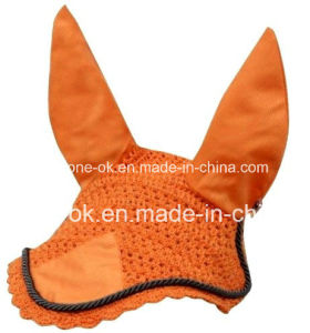 Hand Crochet Horse Fly Mask Veils Pet Ear Bonnet pictures & photos