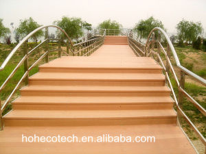 Wood Color Anti-Crack Moisture Proof Outdoor Decking Project WPC Stairs pictures & photos