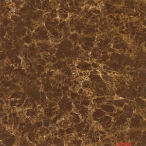 3D Inkject Brown Glass Glossy Porcelain Floor Tile pictures & photos