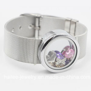 Fashion Stainless Steel Jewelry Bracelet with Locket Pendant pictures & photos
