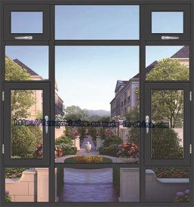 2015 New Style Break Bridge Aluminium Casement Window with Fly Mesh pictures & photos
