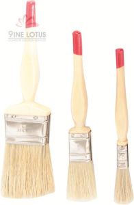 High Quality Wooden Handle and Red End Bristles Paint Brush pictures & photos