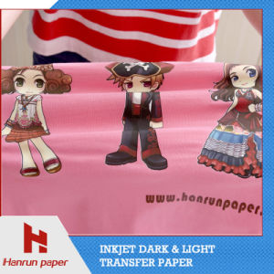 PU Coating Layer, Easy Cutting Dark T-Shirt Heat Transfer Printing Paper for 100% Cotton Fabric