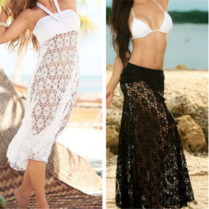 2015 Sexy Cover up Halter Lace Beach Dress (50039) pictures & photos