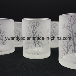 Customized Labels Frosted Glass 175g Wax Candle Scented pictures & photos