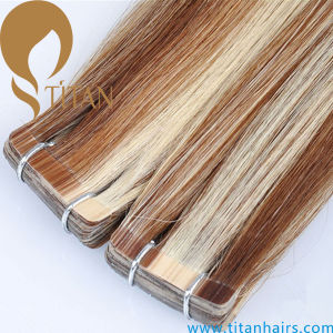Piano Color Tape Brazilian Remy Human Hair Extension pictures & photos