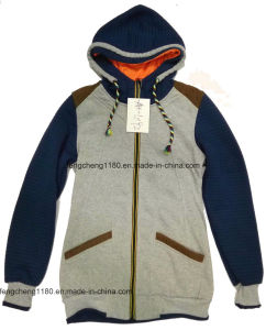 Women′s Spring/Autumn Fleece Zipper Jacket/ Coat pictures & photos