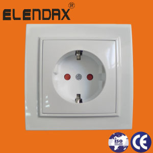 Double Electrical Socket, with Shucko Earthing (F8210) pictures & photos