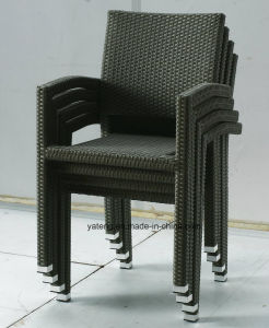 Stackable Outdoor Garden Furniture Chair & Table Set Using Hotel and Balcony Palce (Yta098&Ytd144-2 pictures & photos
