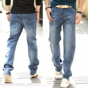 2016 New Fashion Classic Cotton Jeans Men Straight Trousers Brand Jeans pictures & photos