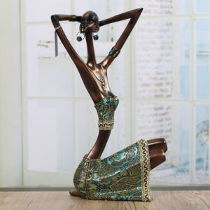 OEM Morden Home Decor Polyresin Statue African Black Woman pictures & photos