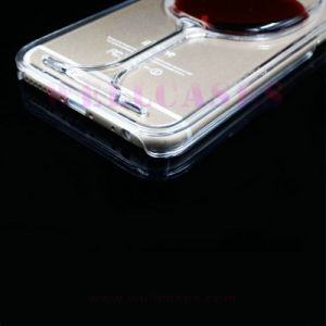Wholesale Liquid Oil Glass Mobile Phone Case for Samsung/iPhone pictures & photos
