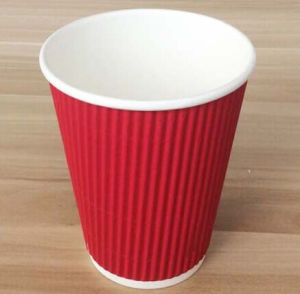 Disposable Product Logo Printed Ripple Paper Cups Single/Double/Ripple Wall for Coffee pictures & photos