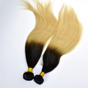 Virgin Hair Straight Ombre Human Hair Weft pictures & photos