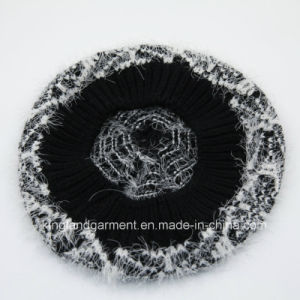 100% Acrylic Feather Yarn Knitted Beret pictures & photos