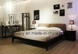 Modern Style Leather Double Bed (A-B39) pictures & photos