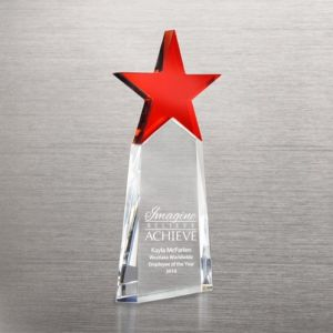 Red Star Pinnacle Crystal Trophy for Achievements Awards (#78252) pictures & photos