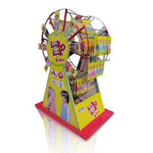 Rotatable Waterwheel Corrugated Display Stand, PDQ Paper Display pictures & photos