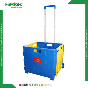 Plastic Folding Grocery Shopping Cart 35kgs pictures & photos