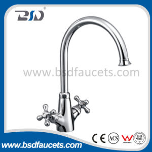 Double Handle Long Neck Kitchen Water Faucet pictures & photos