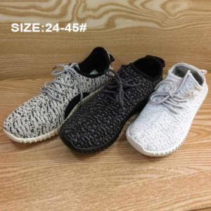 Classic Cheap Injection Breathable Flyknit Casual Sneaker Shoes pictures & photos