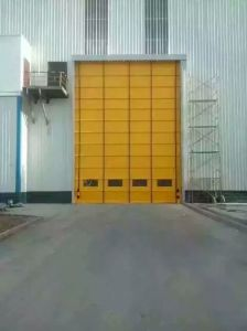 CE Stacking Folding Gate High Speed Door pictures & photos