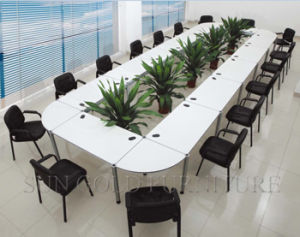 Wooden Oval Large Conference Meeting Table Office Furniture pictures & photos