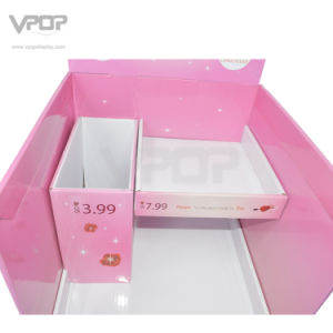 Valentine′s Day Cardboard Floor Stand with Shelves for Chocolate pictures & photos