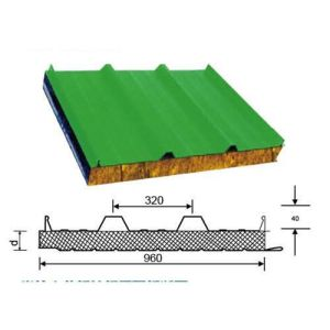 Best Quality Sound and Heat Insulation Rockwool Sandwich Panel pictures & photos