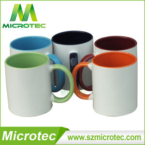 11oz Sublimation Inner & Handle Color Coated Ceramic Coffee Mug (MT-B002H) pictures & photos