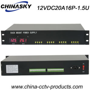 20 AMP LED Display CCTV Rackmount Power Supply (12VDC20A16P-1.5U) pictures & photos