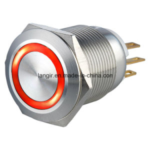 19mm Ring Illuminated Momentary 1no1nc Metal Electric Car Push Button Switch pictures & photos