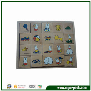 Popular and Lovely Square Educational Wooden Block pictures & photos