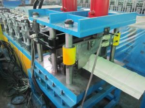 Galvanized Steel Metal Roof Ridge Cap Roll Forming Machine pictures & photos