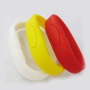Christmas Gift Wristband Silicone USB Memory with Full Capacity pictures & photos