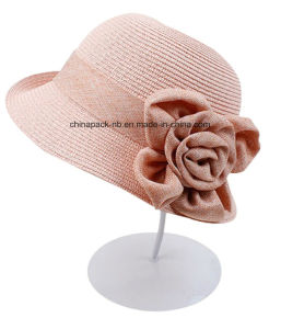 Girls Straw Article Sun Hat Bowknot Bohemia Cap pictures & photos