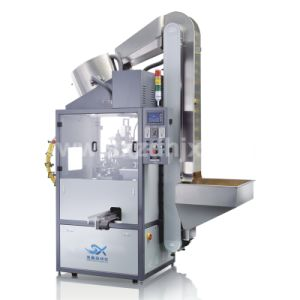 Olive Oil Plastic Cap Screen Printing Machine with UV and Flame Treatment pictures & photos