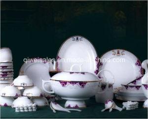 Jingdezhen Porcelain Tableware Kettle Set (QW-Purple Flower) pictures & photos