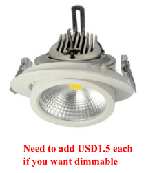 Non-Dimmable/Dimmable Epistar COB LED Down Light pictures & photos