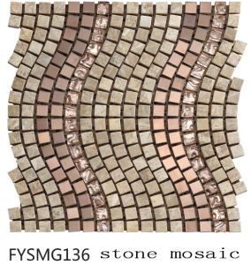 Building Material Metal/Crystal / Marble Mosaic Tile (FYSMG136) pictures & photos