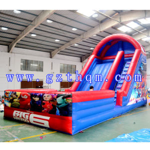 Children′s Cartoon Print Design Water Inflatable Slide pictures & photos